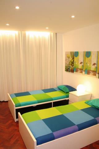 Room 2  -  2 single beds