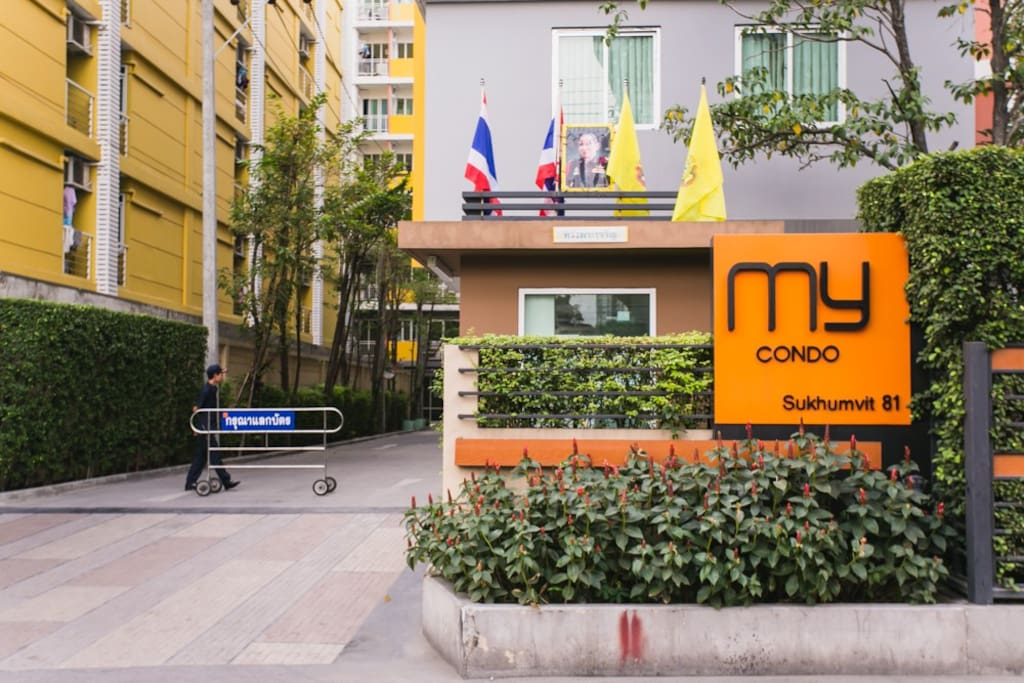 MY CONDO is located in Soi Sukhumvit 81. Less than 5 minutes walk from BTS On-Nut Station on the Sukhumvit line.