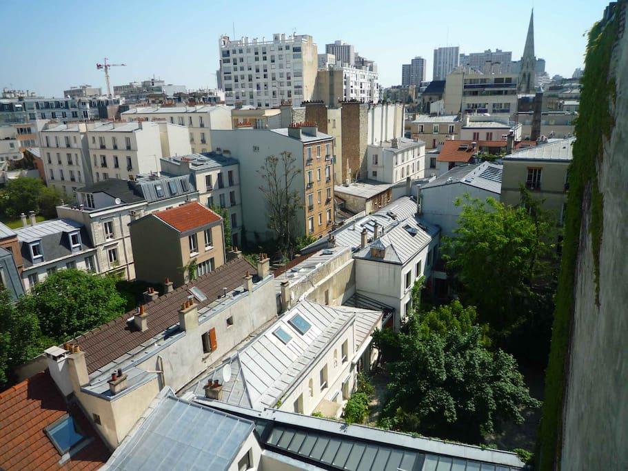 vue depuis balcon chambre