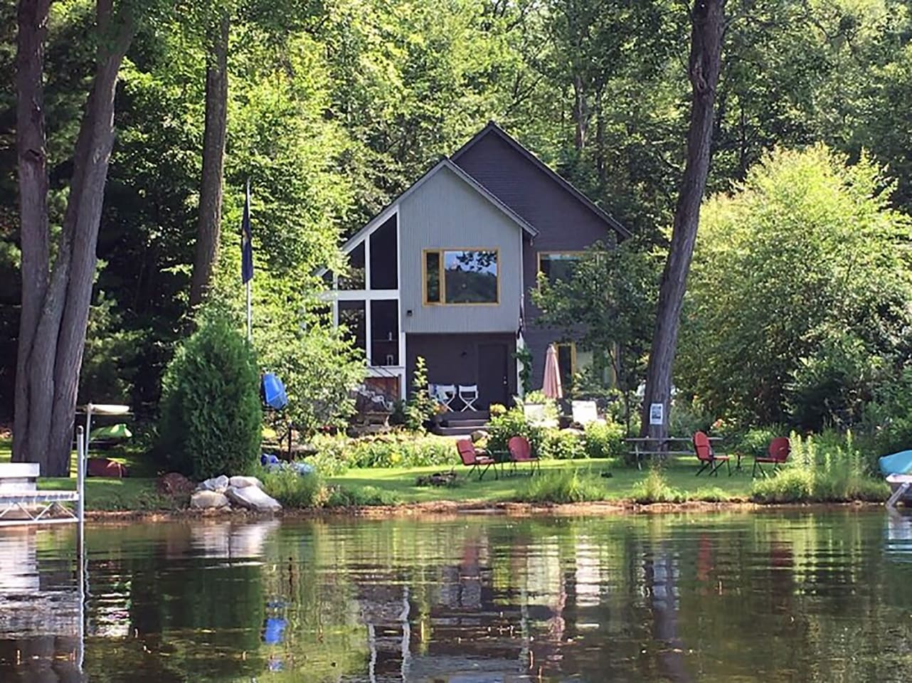 37 Rustic Court is lakefront home with stunning views.