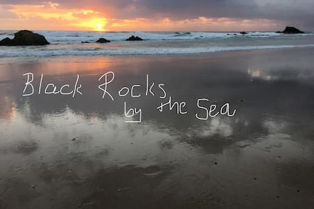 Black Rocks by the Sea