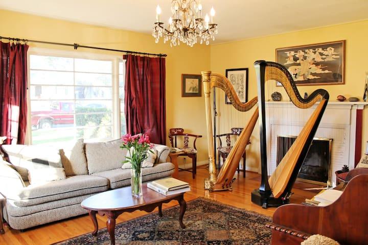 Harp House, Quiet Garden & Breakfast - พาซาดีนา - บ้าน