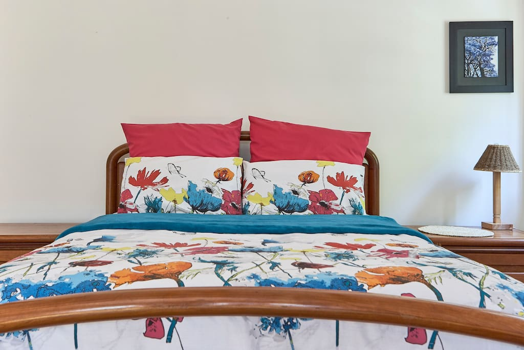 Main bedroom with queen size bed