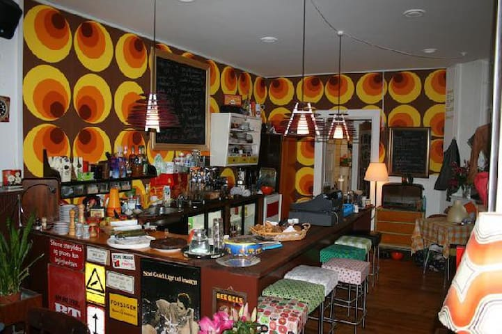 Retro café/vintage clothing - in the street too