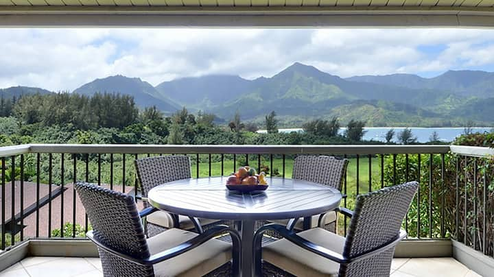 AWESOME OCEAN VIEWS AND WALK TO HANALEI BAY & AC!
