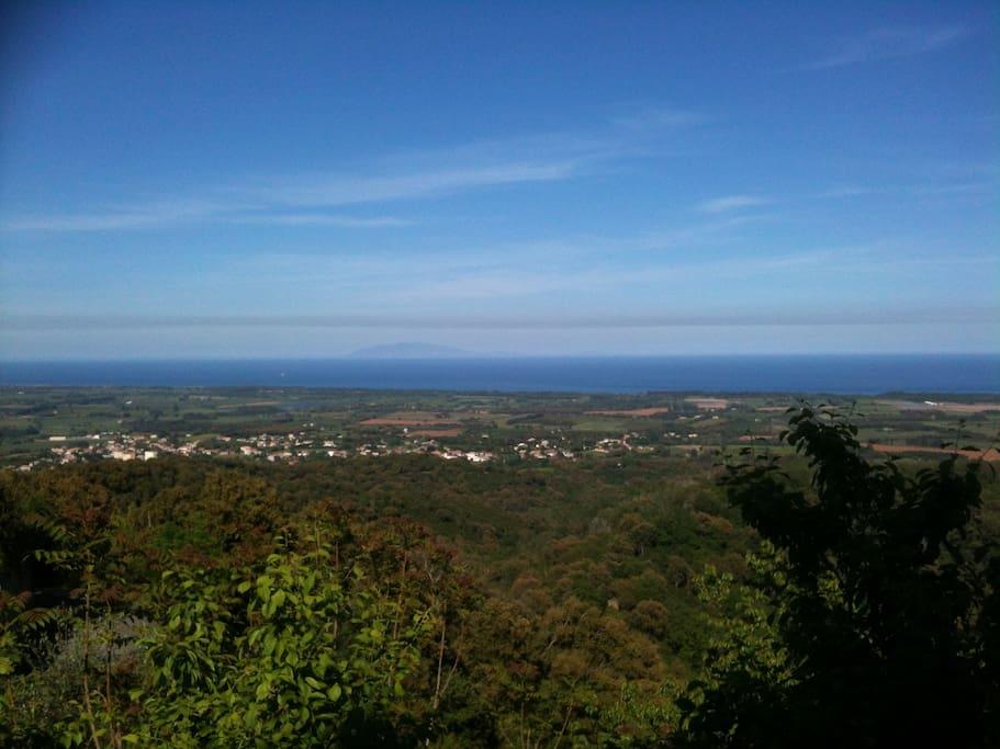 vue mer et iles italiennes depuis la terrasse de 250m2