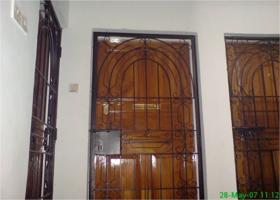 SECURE ENTRANCE DOOR TO THE APARTMENT