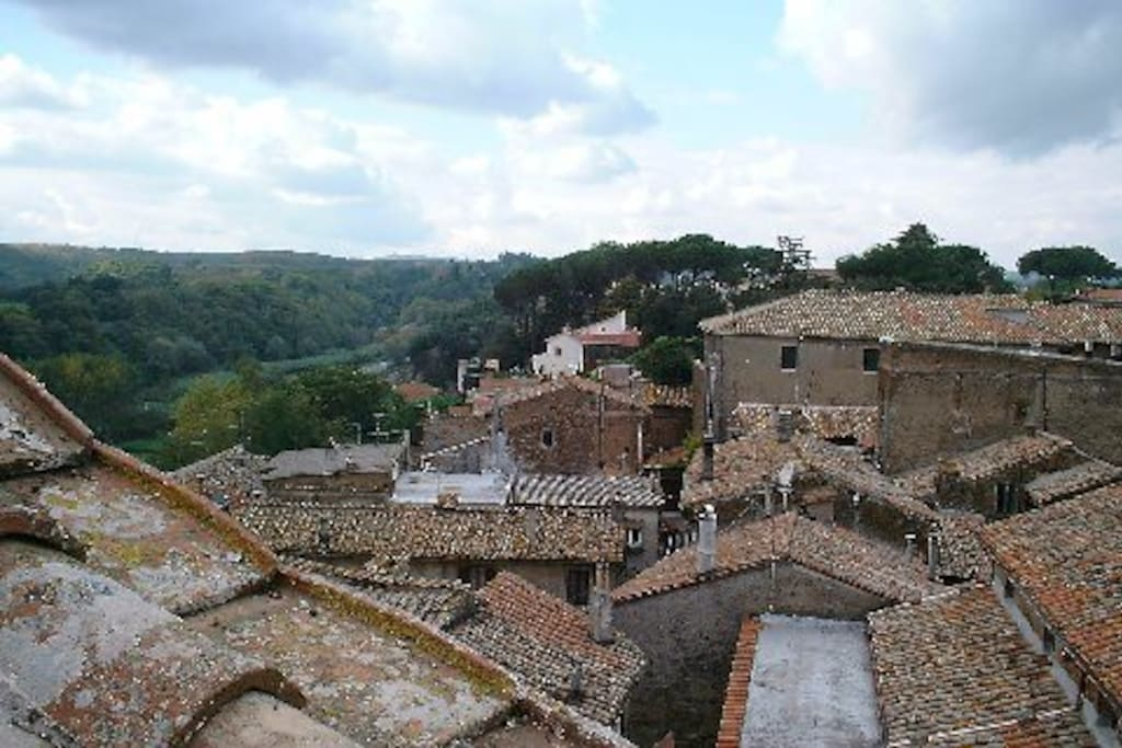 A symphony of ancient rooftops in the heart of beautiful countryside