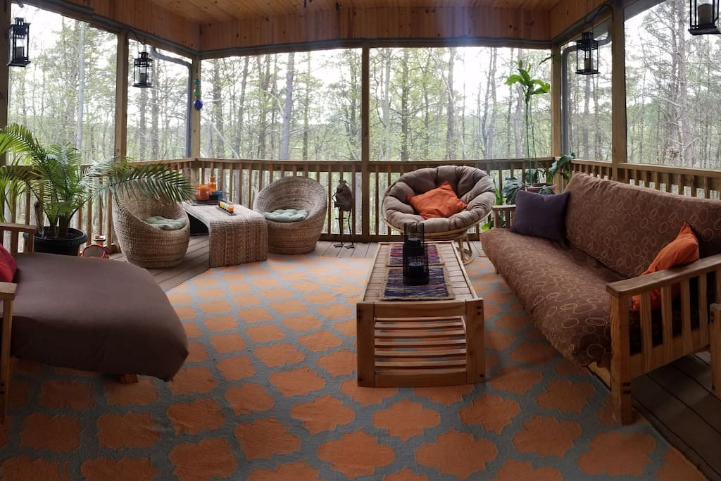 Looking avoid the bugs but still enjoy the outdoors? Our screened-in porch is the perfect place to relax without the worry.