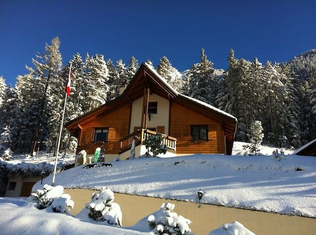 Room Gentiane panoramic vue  - Champex-Lac - Bed & Breakfast