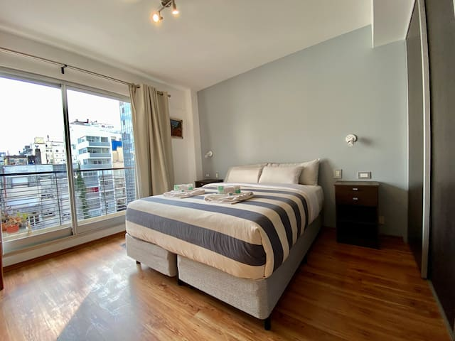 Bedroom at 1st floor with balcony and blackouts