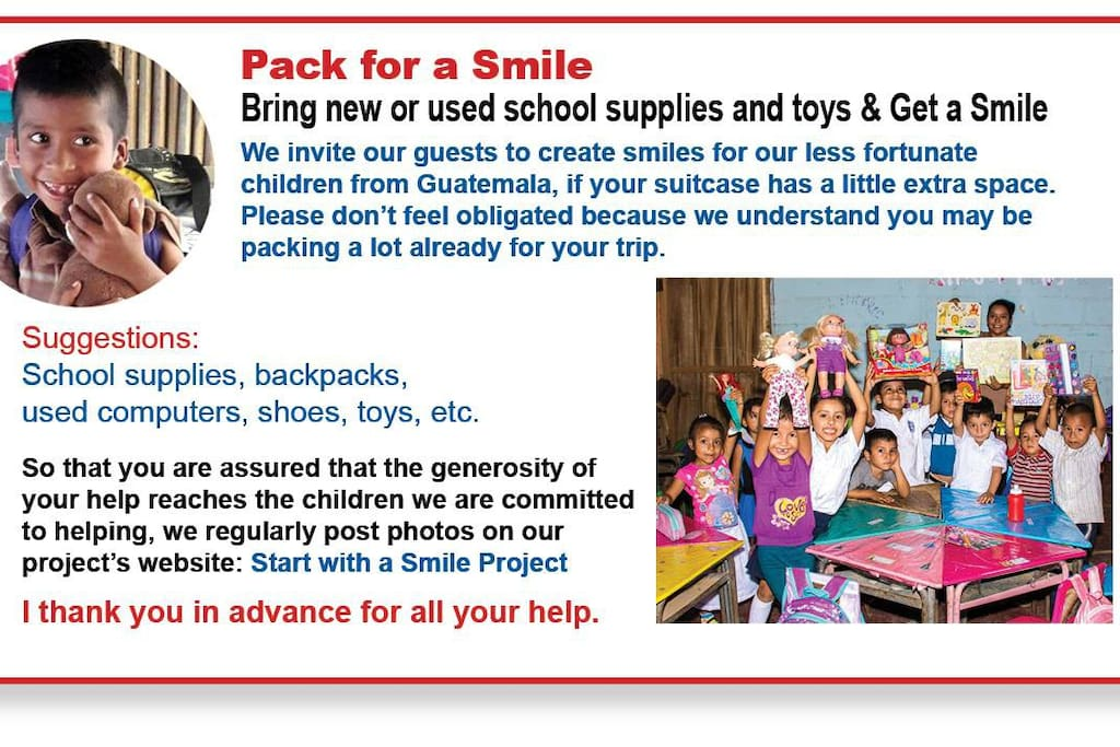 Pack for a Smile  Bring new or used school supplies and toys and get a smile