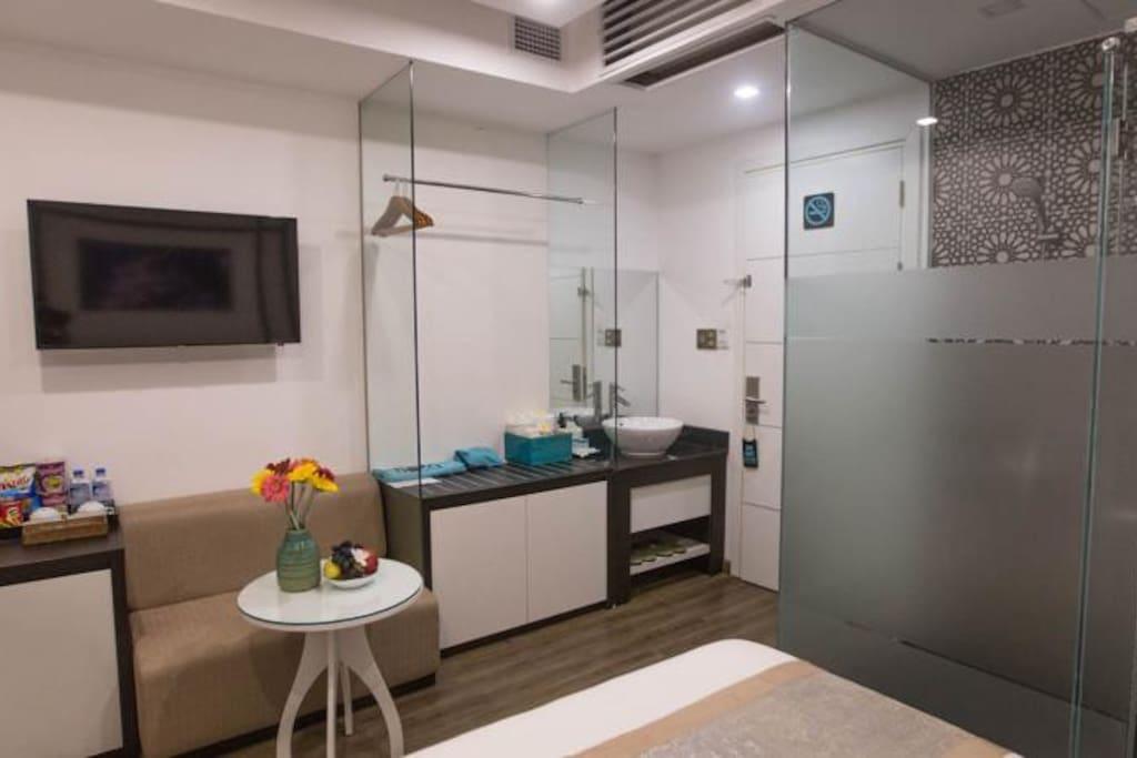 Private bathroom inside