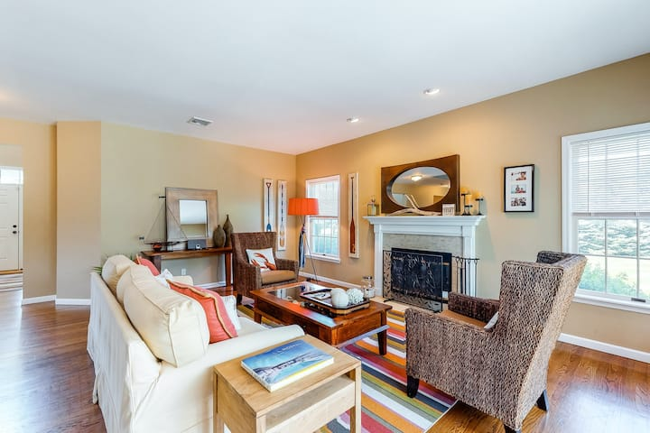 New listing! Exquisite dog-friendly home w/large yard, furnished deck, & firepit
