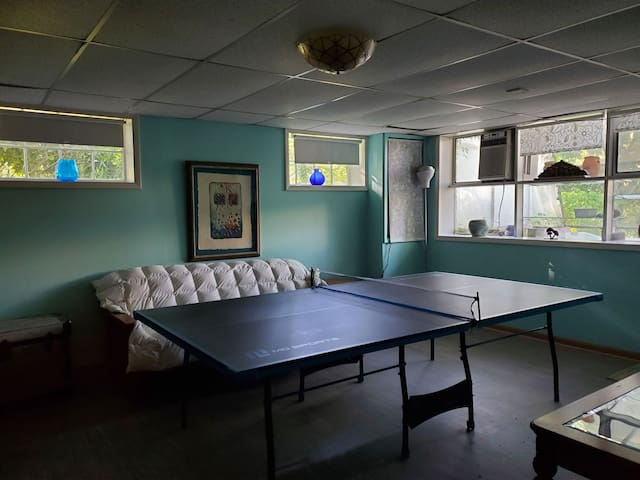 Ping pong table and  futon couch