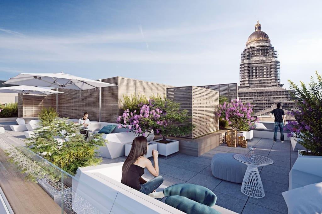 palatium studio appartements en r sidence louer bruxelles bruxelles belgique. Black Bedroom Furniture Sets. Home Design Ideas