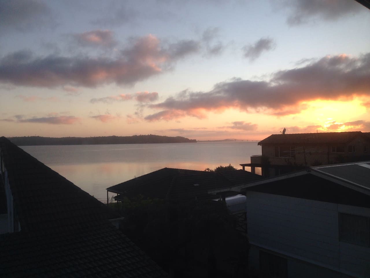 Views from house to the Auckland Harbour Bridge