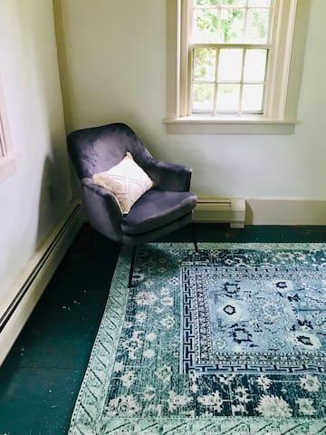 Enjoy this cozy reading nook