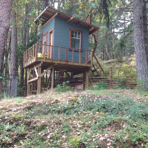 Off Grid Tree house... on the edge of forest.