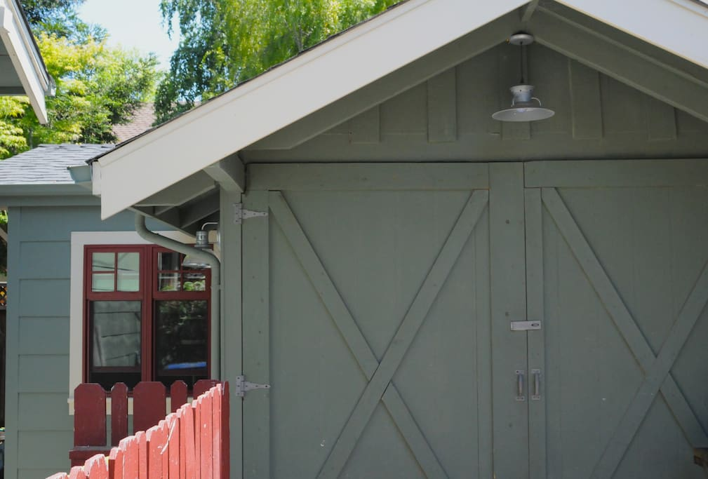 Outside of this quaint, newly renovated studio cottage