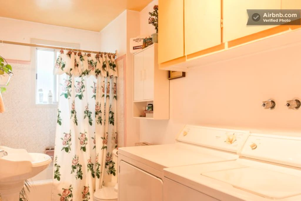 Large Bathroom with Washer & Dryer