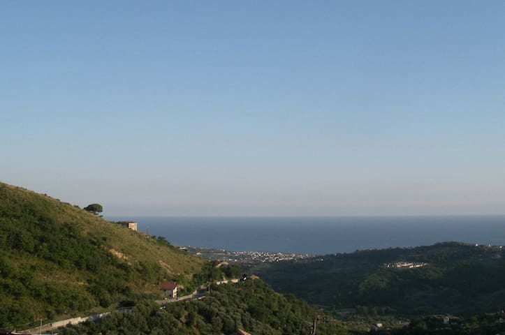 View of the sea from the village