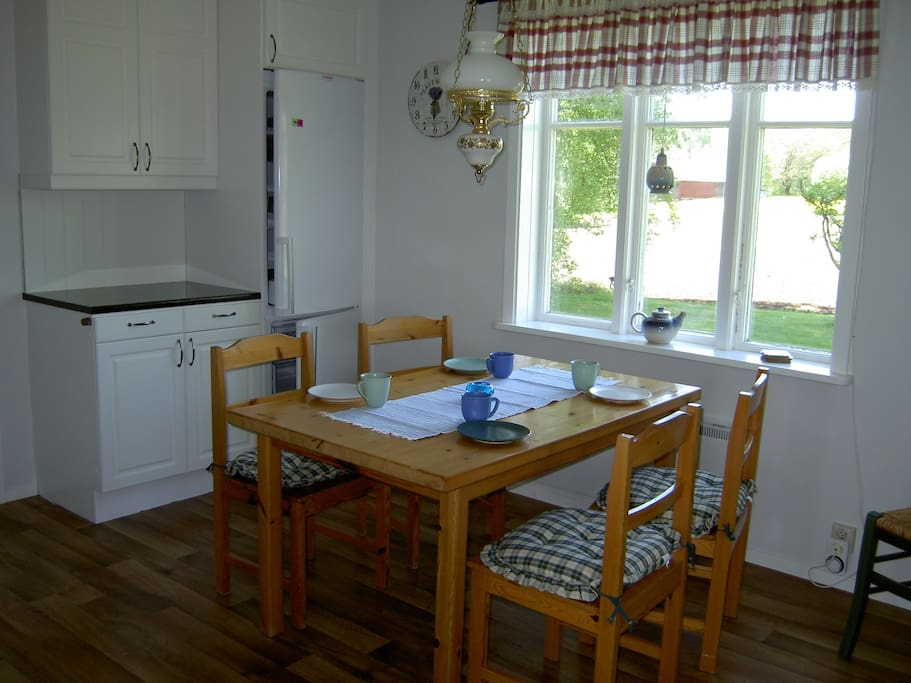 Spacious kitchen with all you need to cook and enjoy meals