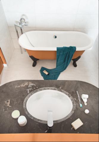 salle de bains suite parentale, face mer