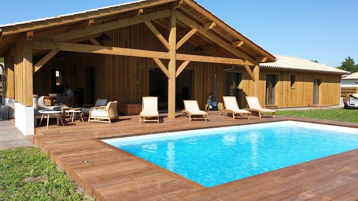 Maison bois récente au calme à 15 km de l'océan