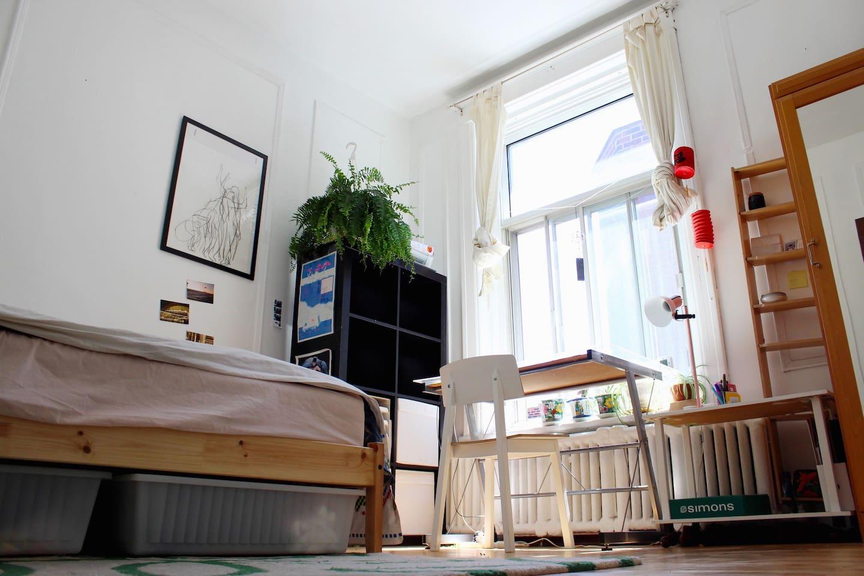 Room gets plenty of light all day long!
