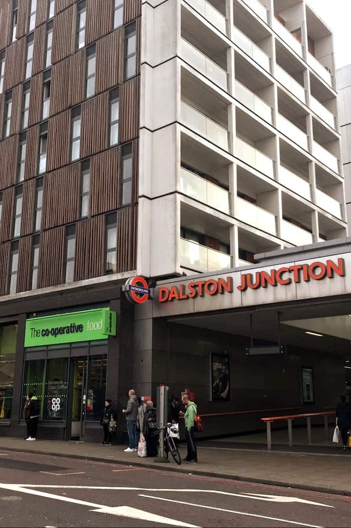 Our meeting point - Dalston Junction