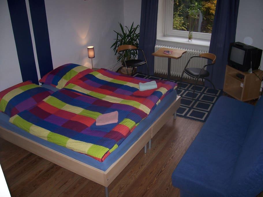 guest room in shared flat in hamburg eppendorf bed. Black Bedroom Furniture Sets. Home Design Ideas