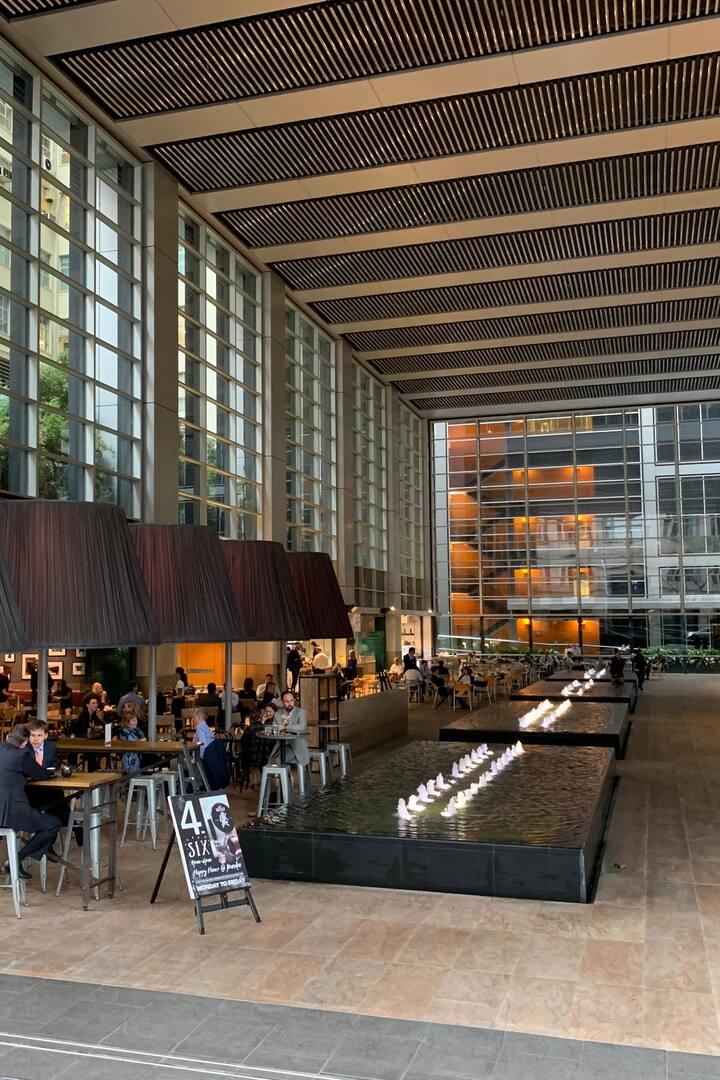 Foyer at Deutsche Bank building