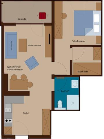 Rössle Appartement Top 3 oder 7 ( 57 m2 )