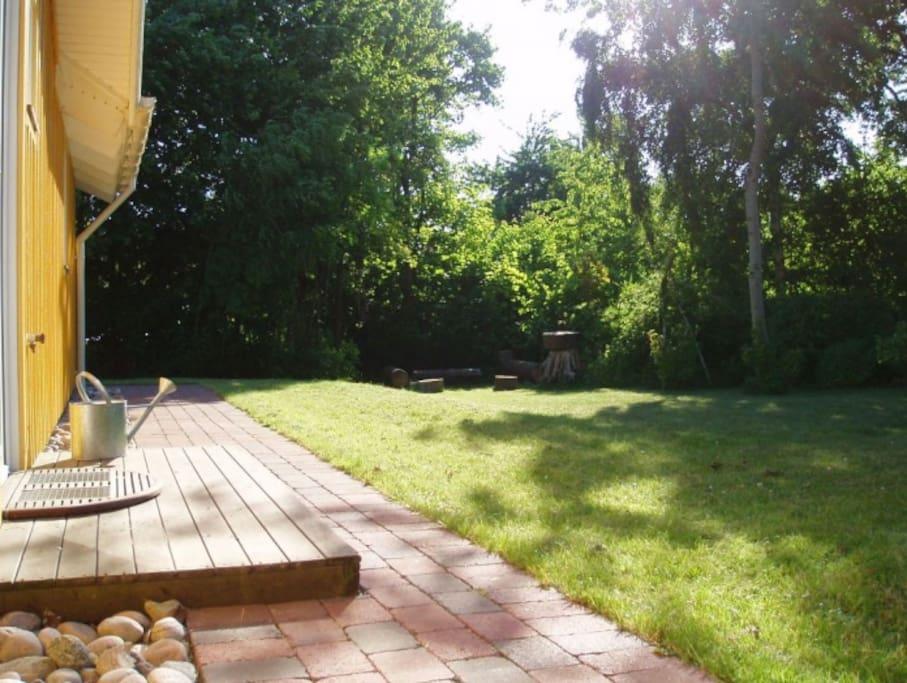 Et kik omkring huset en dejlig sommerdag i juli