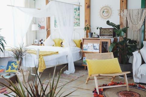 Vian - Zahradní podkroví ve snu/kavárně.