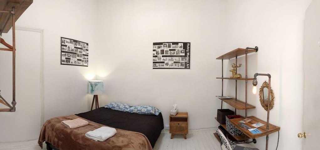 Modern room at vintage cozy home!
