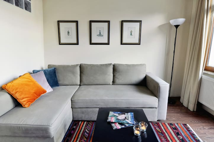 Upper level sofa bed  - lower level has the same sofa bed
