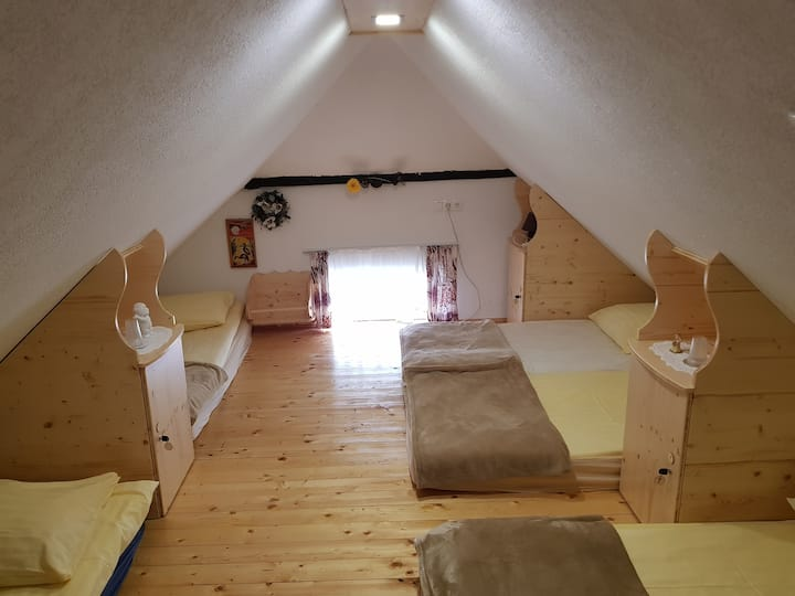 Single Bed in 12-Bed Attic Dormitory-Mama's House