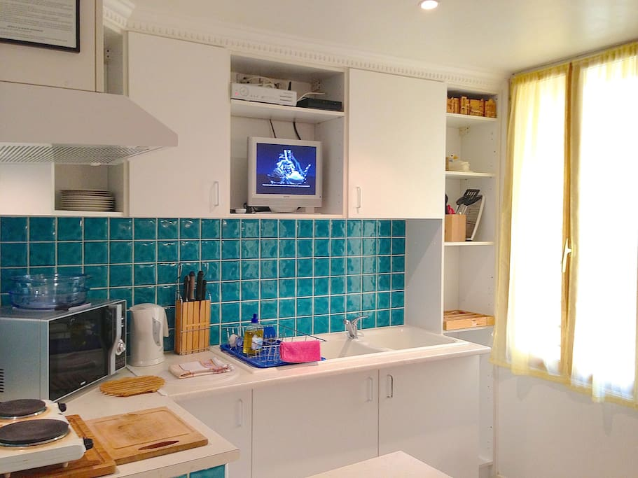 You will find everything you need to make your stay comfortable and affordable with this equipped kitchen