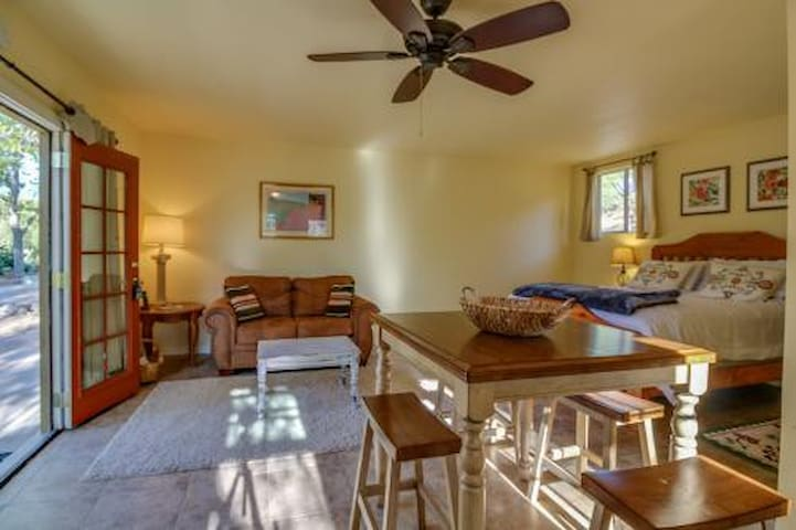 Open airy interior with all the comforts of home.