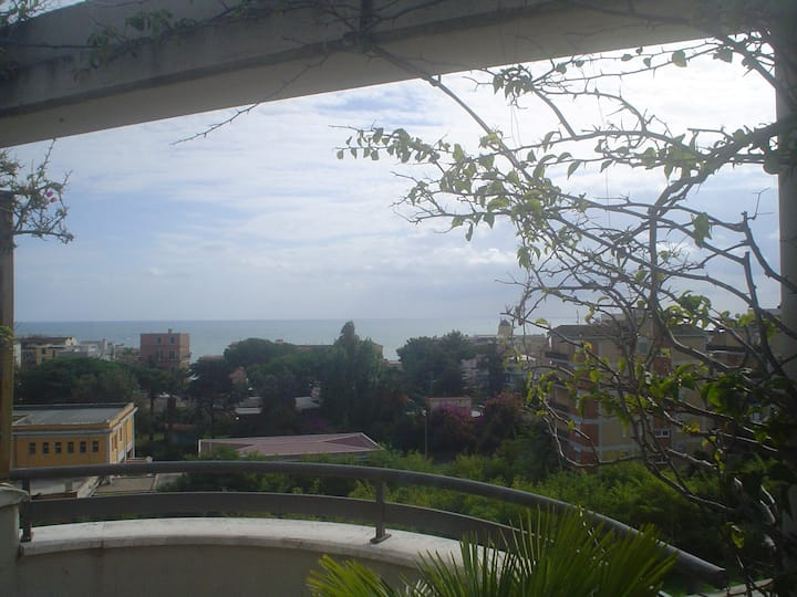 Attico con terrazzo vista mare