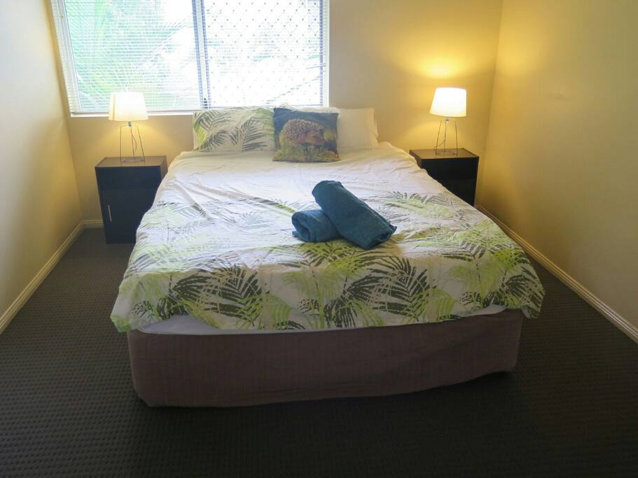 your spacious bedroom with Queen bed