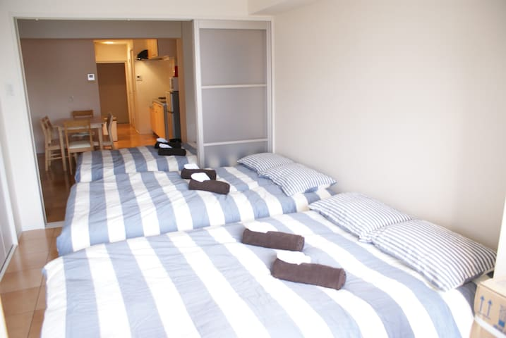 Walking distance to Kuromon market and Dotonbori - Chuo Ward, Osaka - Apartamento