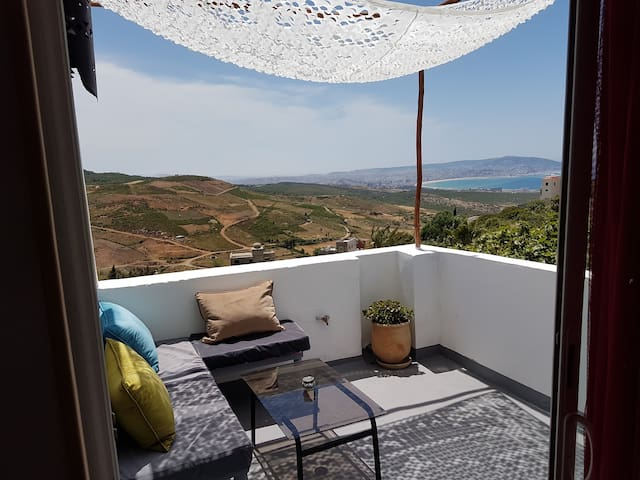 Apartment, view of Tangier / private swimming pool