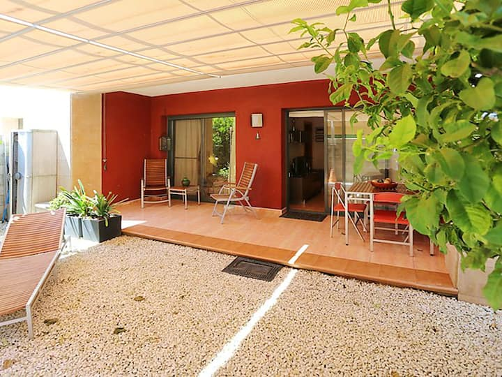 Apartment with one bedroom in L'Eucaliptus, with furnished terrace - 100 m from the beach
