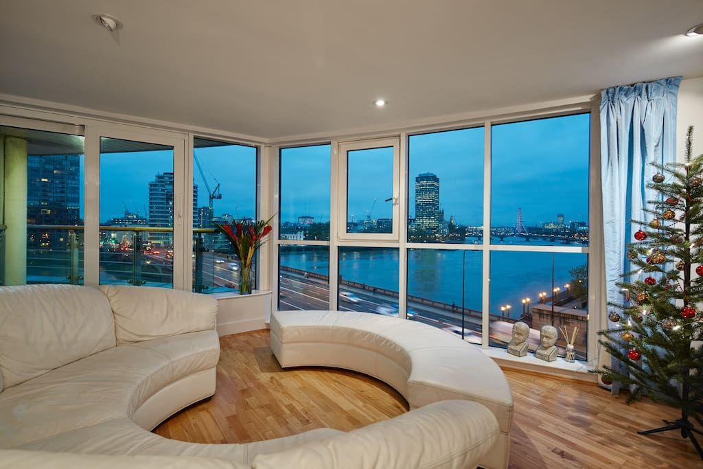 """Review: """"Our apartment was superb for it has a fantastic view overlooking the river..especially during night time, its a breathtaking view indeed"""""""