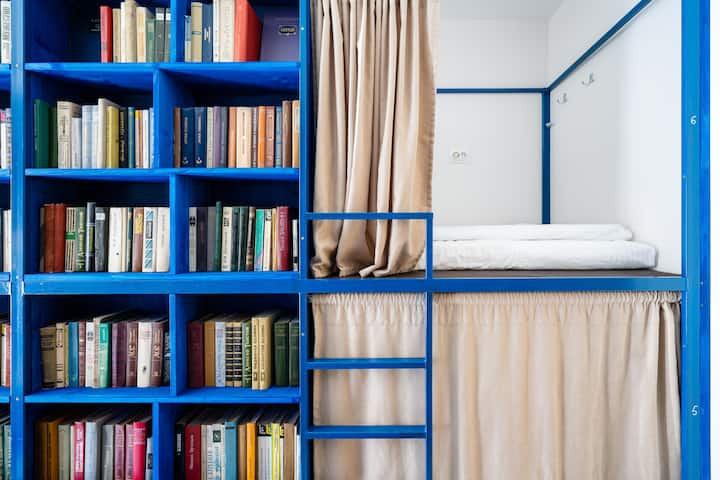 BookCase Eco-Hostel: 8-Bed Mixed Dorm