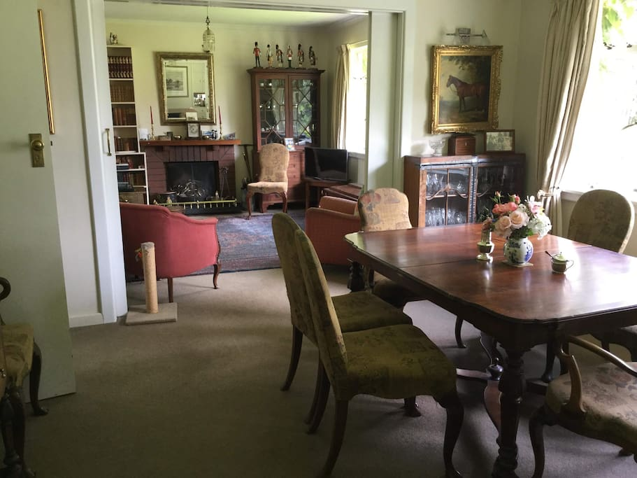 Formal dinning room and sitting room