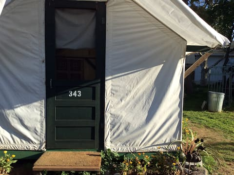 Charming tent cabin, at The Rock Monkey Ranch. 343